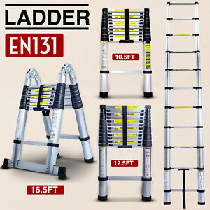 10 5 12 5 16 5ft Multipurpose Aluminum Ladder Fold Extend Telescopic Garden Tool