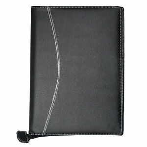 Professional Business Conference Folder Leather Portfolio With Zipper Stationary