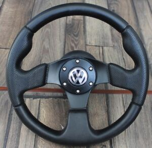 Vw Golf Bora Passat Mk4 B5 Sport Perforated Leather Steering Wheel 320mm Racing