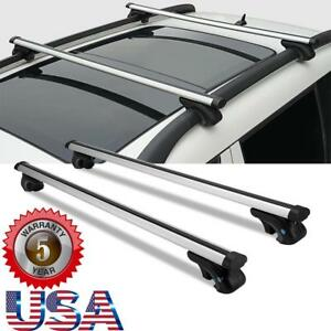 For 2014 2018 Jeep Cherokee Roof Rail Rack Cross Bars Cargo Carrier Oem Replace