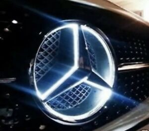 2015 2019 Mercedes Benz Front Star Led Emblem White Light Deep Dish Glc Gle Gls