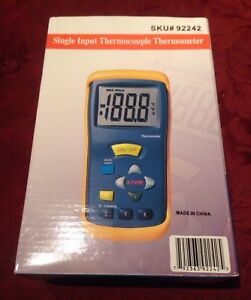 Cen tech 92242 50 To 1300 c K Thermocouple Thermometer New unused