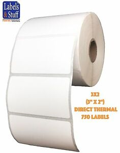 10 Roll 750 3x2 Direct Thermal Labels 2844 Zebra Eltron