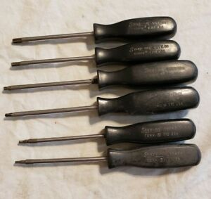 Snap On 6 Pc Torx Hard Handle Screwdriver Set