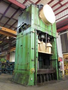 Clearing 1500 Ton 4 point Straight Side Press 108 X 78 Bed Size