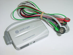 Ge Seer Light 24 Hrs Compact Digital Holter With 2008594 001 5 Lead Ecg Cable