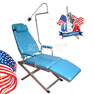 Us Shipping Portable Dental Folding Chair Simple Type Rechargeable Led Light