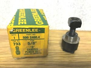Greenlee No 733 5 8 d shape Radio Chassis Punch Heavy Duty Made In Usa
