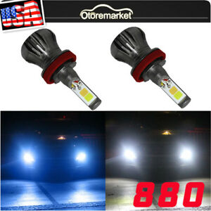 2x 880 899 White Blue Led Fog Light Driving Bulb Drl Lamp High Power Dual Color