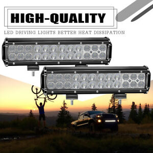 2x 72w Led Offroad Work Lights Led Bar Flood Spot Beam Driving Lamps Truck Boat