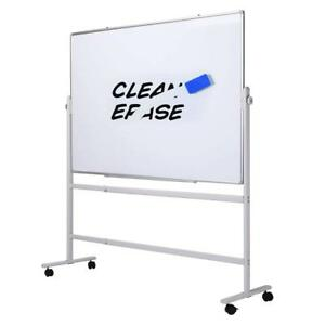 Double sided Magnetic Whiteboard With Stand Height adjustable 36 X 24 Inches