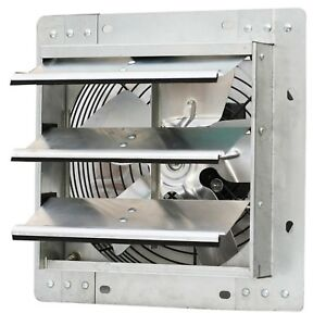 Shutter Mounted Exhaust Fan 10 Garage Air Blades Automatic Explosion Proof Cool