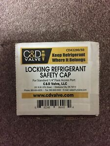 1 4 Universal Locking Refrigerant Safety Caps Usa Made Pack Of 50