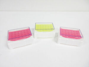 3x 24 Well Isofreeze Mct Chiller Color Changing Pink purple Laboratory Yellow