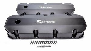 Holley Sniper Fabricated Valve Covers Bbc Tall P n 890004b