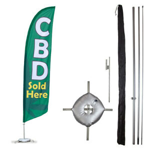 13 Cbd Feather Flag Kit Professional Business Flags Advertising Store Fronts