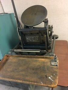 Chandler Price Pilot Table Top 6 1 2 X 10 Letterpress Printing Press