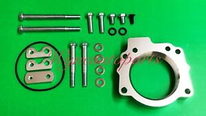 Silver Throttle Body Spacer Fit 00 02 Toyota Tundra 4 7l 01 02 Sequoia V8