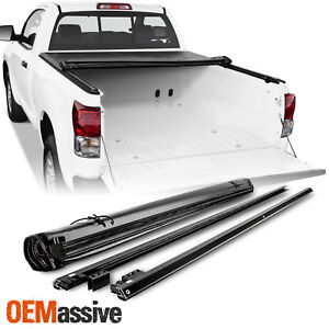Soft Roll Up Tonneau Cover For 2007 18 Toyota Tundra Standard Extended 6 5ft 78