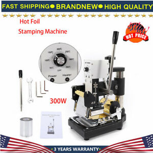 Manual Hot Foil Stamping Machine Embossing Leather Pvc Bronzing Gold And Silver