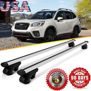 Top Roof Rail Rack Cross Bars Cargo Basket Carrier For Subaru Forester 2008 2019