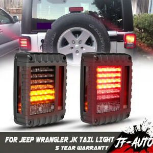 New For Jeep Wrangler Jk 2007 2017 Tail Lights Led Tail Rear Light Clear Lens