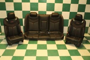 14 17 Caprice Ss Set Black Leather Front Power Track Bucket Rear Bench Seat Set