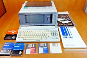Vtg Rare Brother Wp 660 Word Processor Electronic Typewriter W many Accessories
