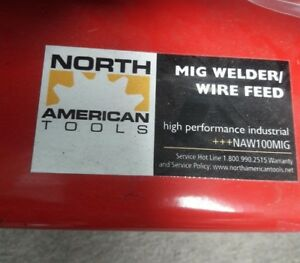 North American Tools Auto Flux Core Wire Feed Mig Welder new 92302