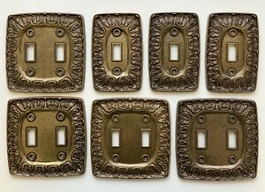 Lot Of 7 Hollywood Regency Kirsch Brass Switch Plate Covers Lr 28847 Bf 141 142