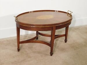 Henredon Historic Natchez Inlaid Mahogany Coffee Cocktail Table