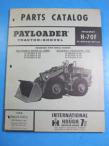 International Hough H 70f Payloader 1966 Parts Catalog List Manual Ome