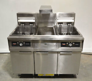 Frymaster Fh22sc 2 bay Deep fat Fryer Commercial Filtration 3 phase Dump station