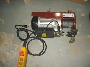 750 1500 Northern Industrial Mini Size Electric Rope Hoist
