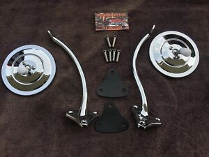 Chevrolet Truck 1955 1956 1957 1958 1959 Gmc Side Mirror Kit Chrome Ribbed