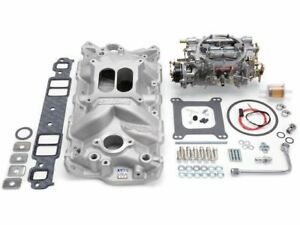 Edelbrock 63sd14y Intake Manifold And Carburetor Kit Fits 1958 1985 Chevy Impala