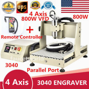 800w Vfd 4 Axis Engraver 3040 Router Machine Engraving Milling rc Controller