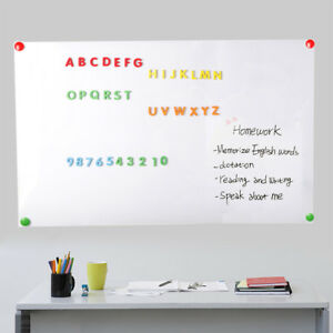 Adhesive Magnetic Dry Erase Board Roll Sticker For Wall With 2 Markers 60 X 36