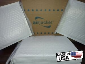 Size 0 6 5x9 25 Poly Airjacket Bubble Mailers Envelopes Made In Usa