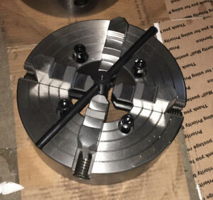 8 4 Jaw Lathe Chuck 4 Independent Reversible Hardened Jaws d 1 5