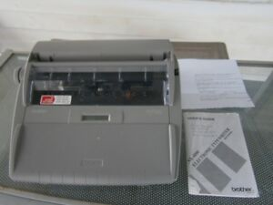 Brother Sx 4000 Portable Electronic Typewriter With Display Guide