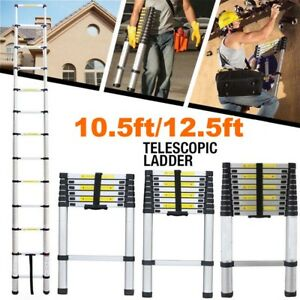 10 5 Ft 12 5 Ft Multi purpose And Non slip Telescopic Ladder Us Stock