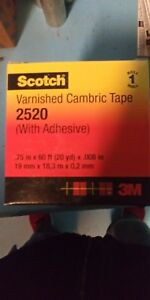 Lot Of 10 New Scotch 2520 Varnished Cambric Electric Tape 3 4 X 60
