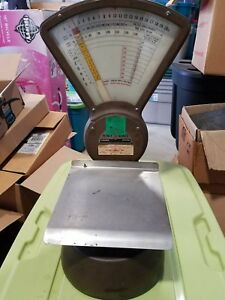 Vintage Pitney Bowes S 120 Industrial Postal Scale Steampunk Usa Pick Up Only