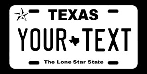Personalized Custom Aluminum License Texas Tx Plate Car Tag your Text
