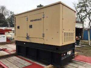 Generac Diesel Generator 20kw 25va Three Phase Sound Proof Enclosure