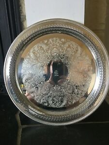 Vintage Wm Rogers 172 Silverplate Dog Sow Retriever Club Trophy Tray Platter