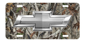 New Custom Chevrolet Chevy Camouflage And White License Plate Car Tag