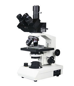 Professional Trinocular Compound Vet Doc Lab Microscope Semi Plan W Camera Port