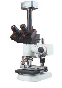 1200x Trinocular Metallurgy Microscope W Xy Stage 10mp Camera Measuring Software